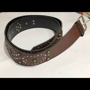 Accessories - Decorative Jewel Brown Belt Sz 24